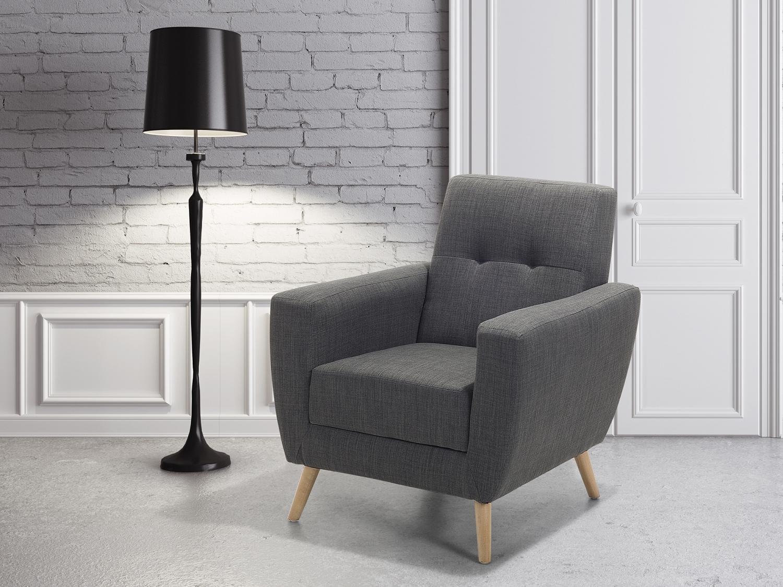 Sessel grau ohrensessel stuhl polstersessel for Sessel stuhl grau