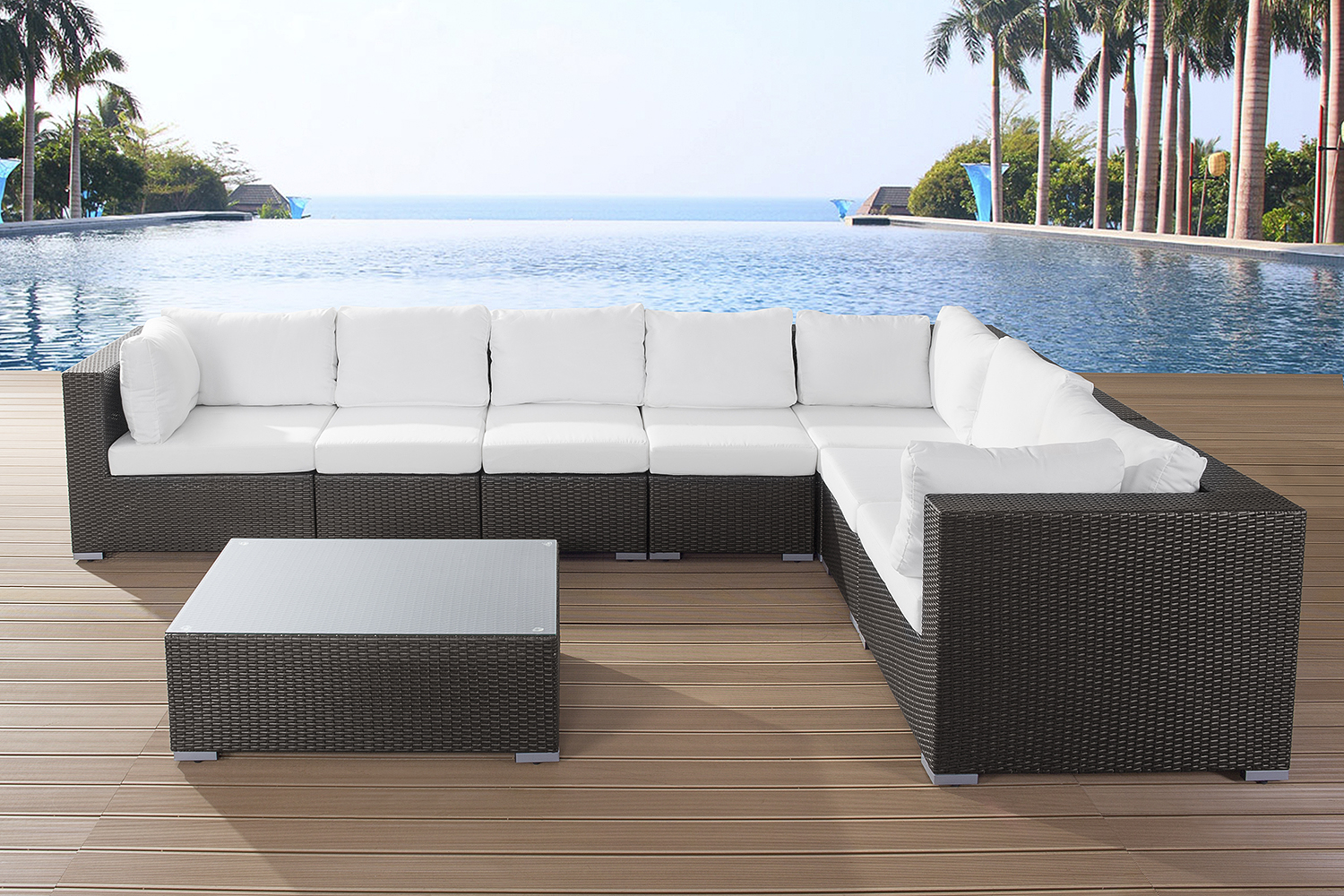 Obi Gartenmobel Chelsea : PATIO WICKER RATTAN RESIN LOUNGE SET GARDEN FURNITURE SOFA SUITE