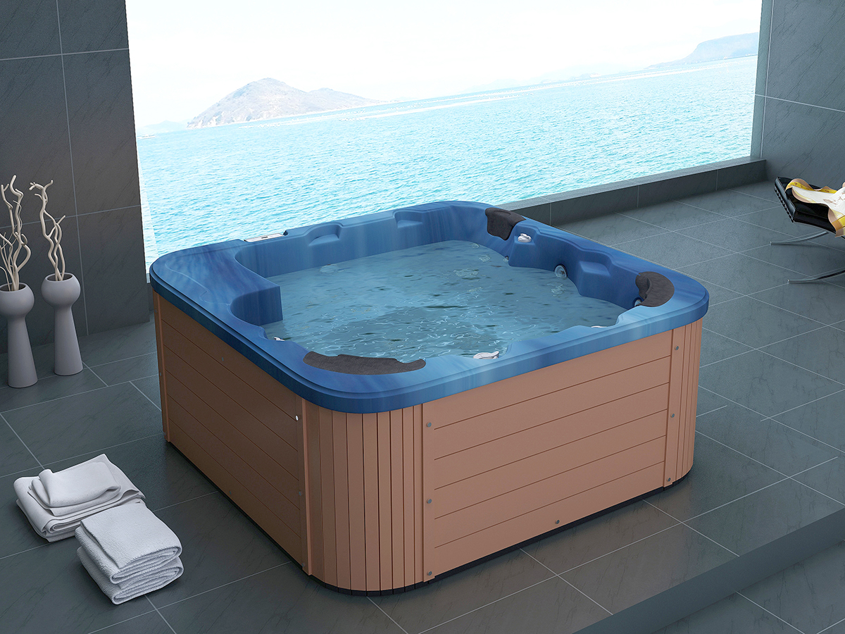 pool whirlpool outdoor spa badewanne acryl wanne mit heizung und massage ebay. Black Bedroom Furniture Sets. Home Design Ideas