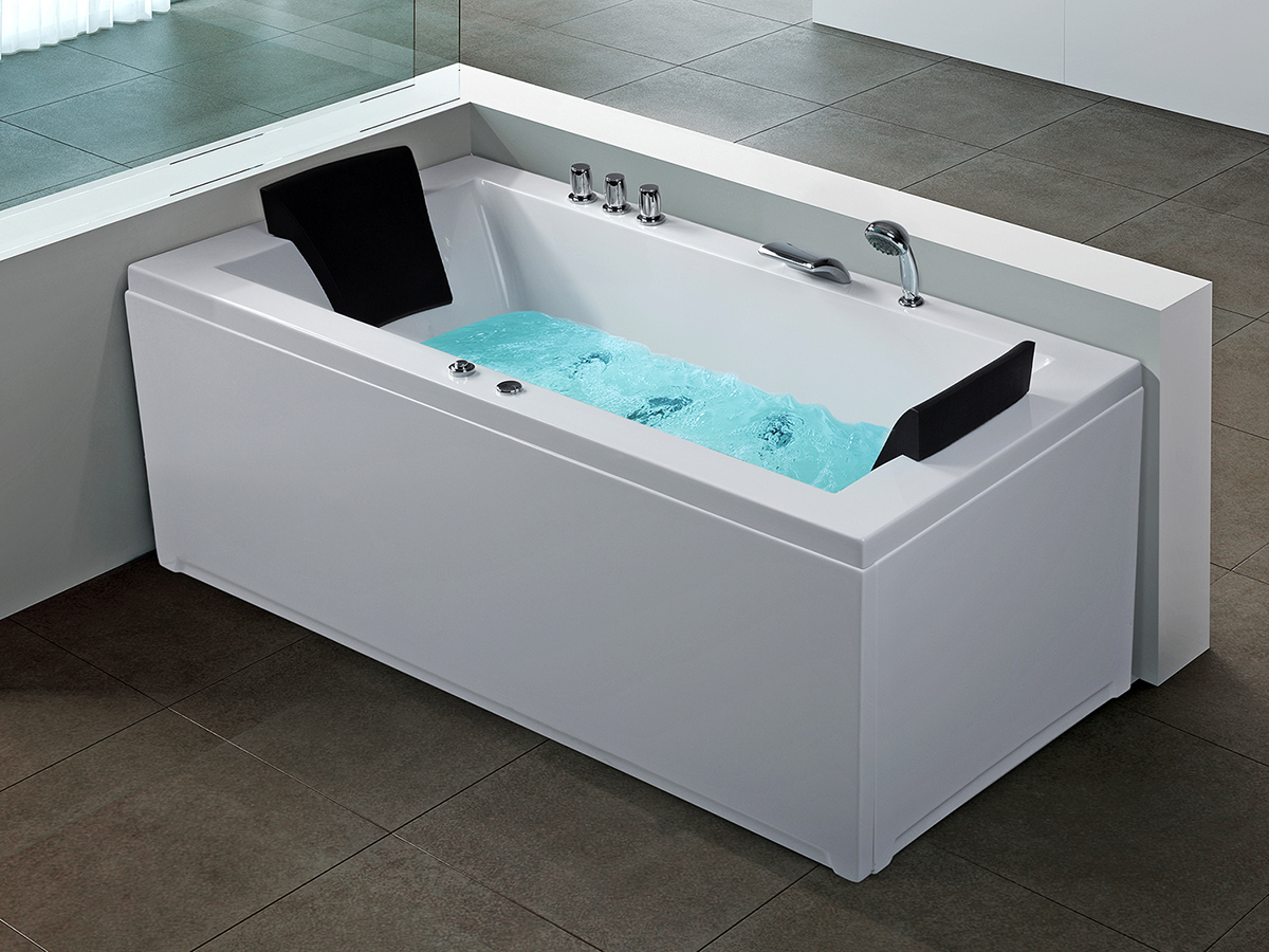 whirlpool spa badewanne acryl mit wasserfall. Black Bedroom Furniture Sets. Home Design Ideas
