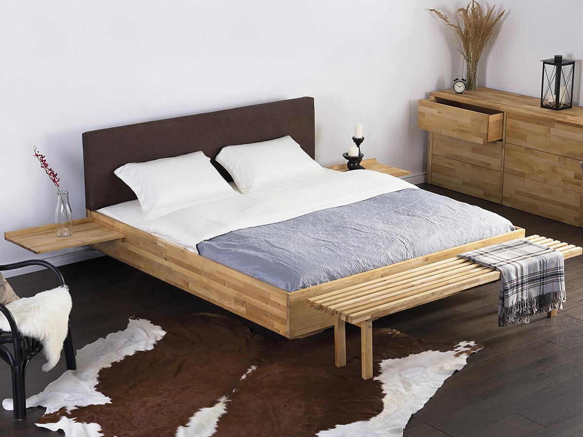 lit design 180x200 chevets int gr s t te de lit brun. Black Bedroom Furniture Sets. Home Design Ideas
