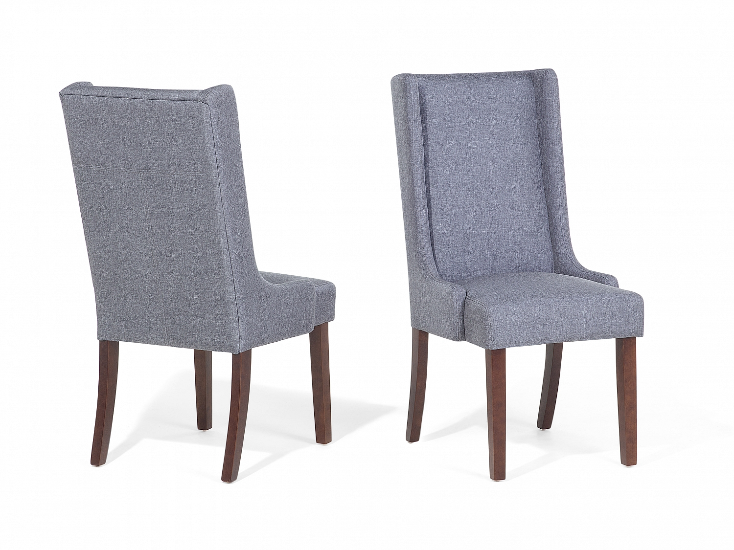 Chair Dining Chair Upholstered Armless High Back Dark Grey ...