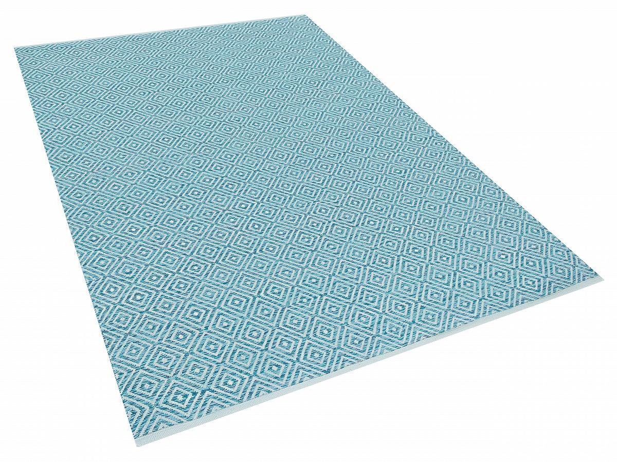 teppich blau l ufer wohnzimmerteppich vorlage 160x230 cm baumwolle ebay. Black Bedroom Furniture Sets. Home Design Ideas