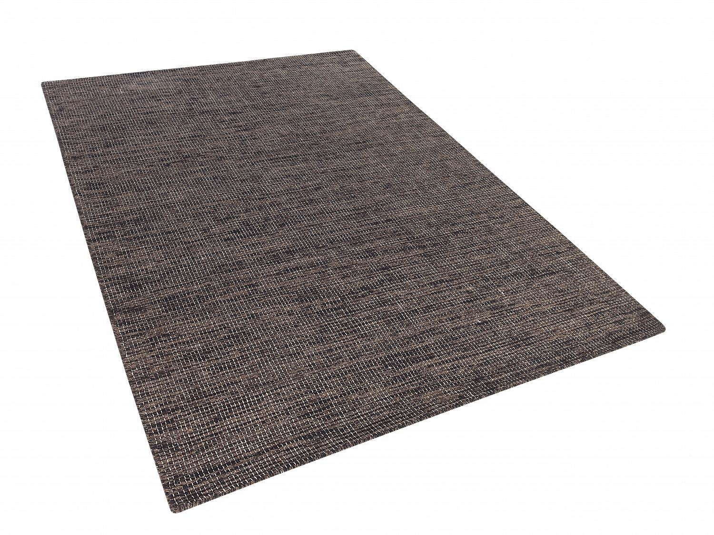 teppich braun 120x170 cm wolle baumwolle l ufer. Black Bedroom Furniture Sets. Home Design Ideas