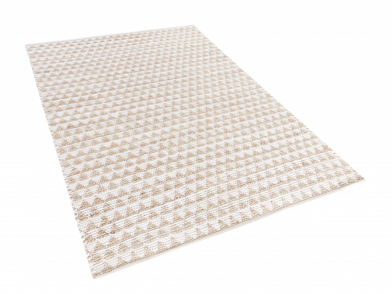teppich 120x170 cm beige polyester baumwolle jute wohnzimmerteppich. Black Bedroom Furniture Sets. Home Design Ideas