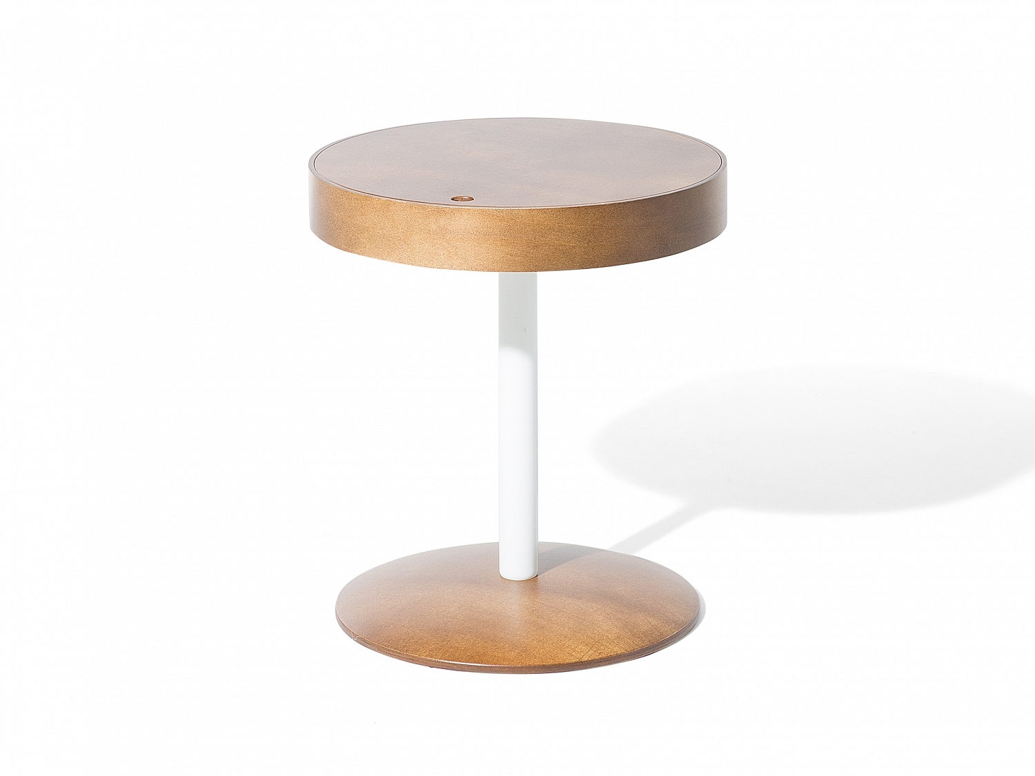 Table d appoint table basse ronde marron rangement - Table d appoint ronde ...