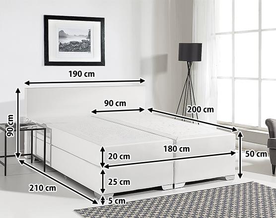 boxspring bett. Black Bedroom Furniture Sets. Home Design Ideas