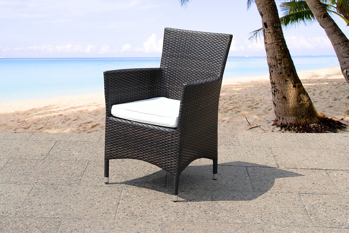 dining chair indoor and outdoor including cushion rattan espresso
