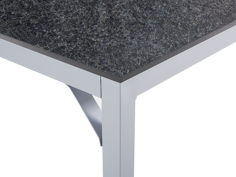 Garden Table Dining 6 Seater Steel Granite Top Flamed Black EBay