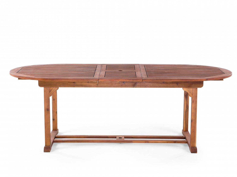 Wundervoll Gartentisch Oval Holztisch Ausziehbarer Tisch Gartenmöbel  CS74