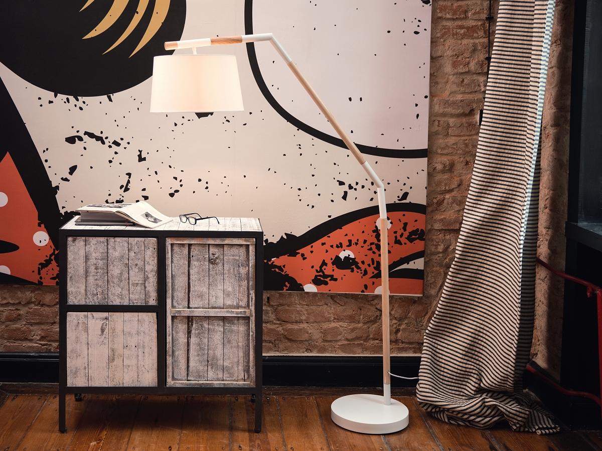 stehlampe wei stehleuchte standleuchte lampen leuchten schlafzimmer salon ebay. Black Bedroom Furniture Sets. Home Design Ideas