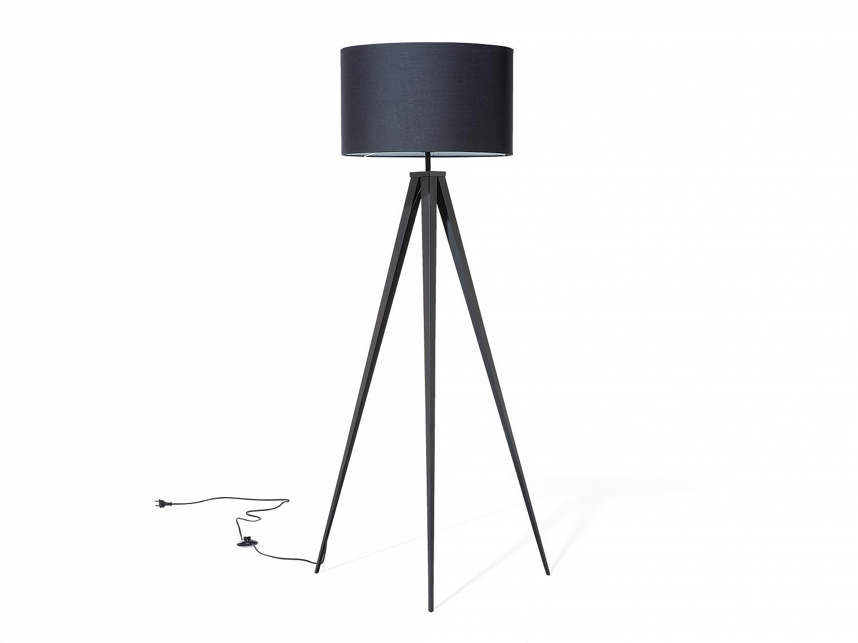stehlampe schwarz stehleuchte standleuchte lampen leuchten schlafzimmer salon ebay. Black Bedroom Furniture Sets. Home Design Ideas