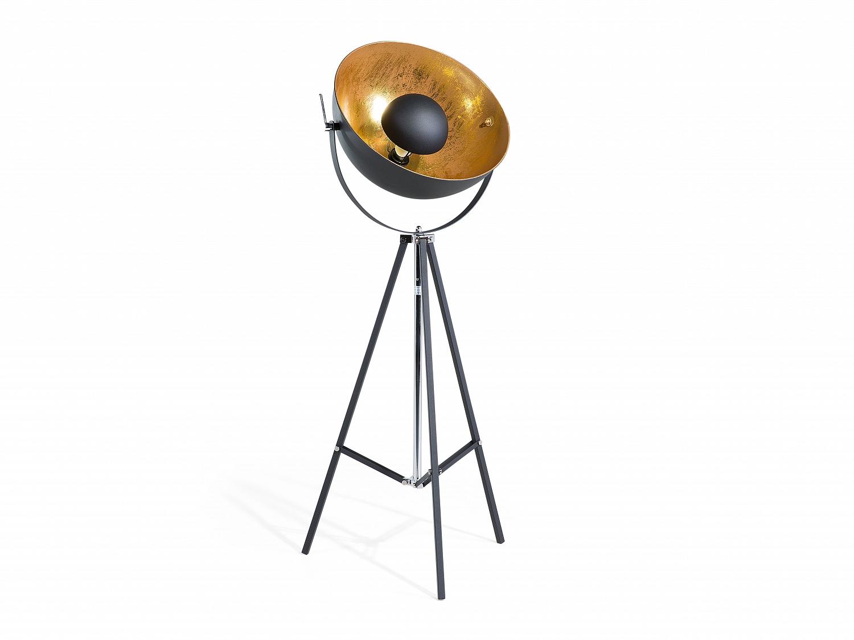 satellite floor lamp modern lighting black gold photo studio telescope tripod ebay. Black Bedroom Furniture Sets. Home Design Ideas
