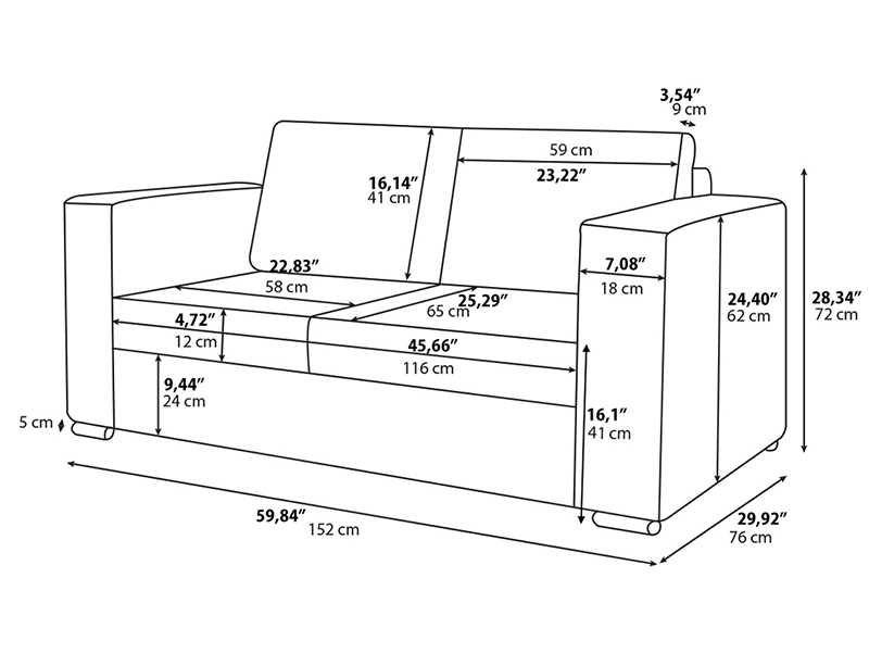 Sofa Dimensions In Mm The Image Kid Has It