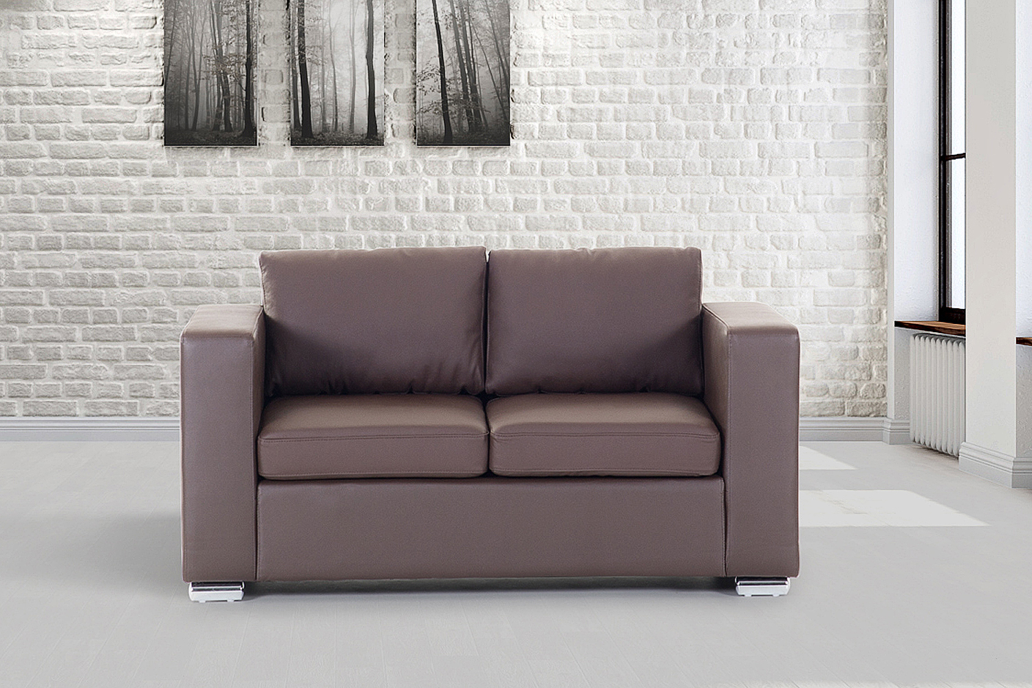 Leather Sofa Love Seat Living Room Furniture Couch