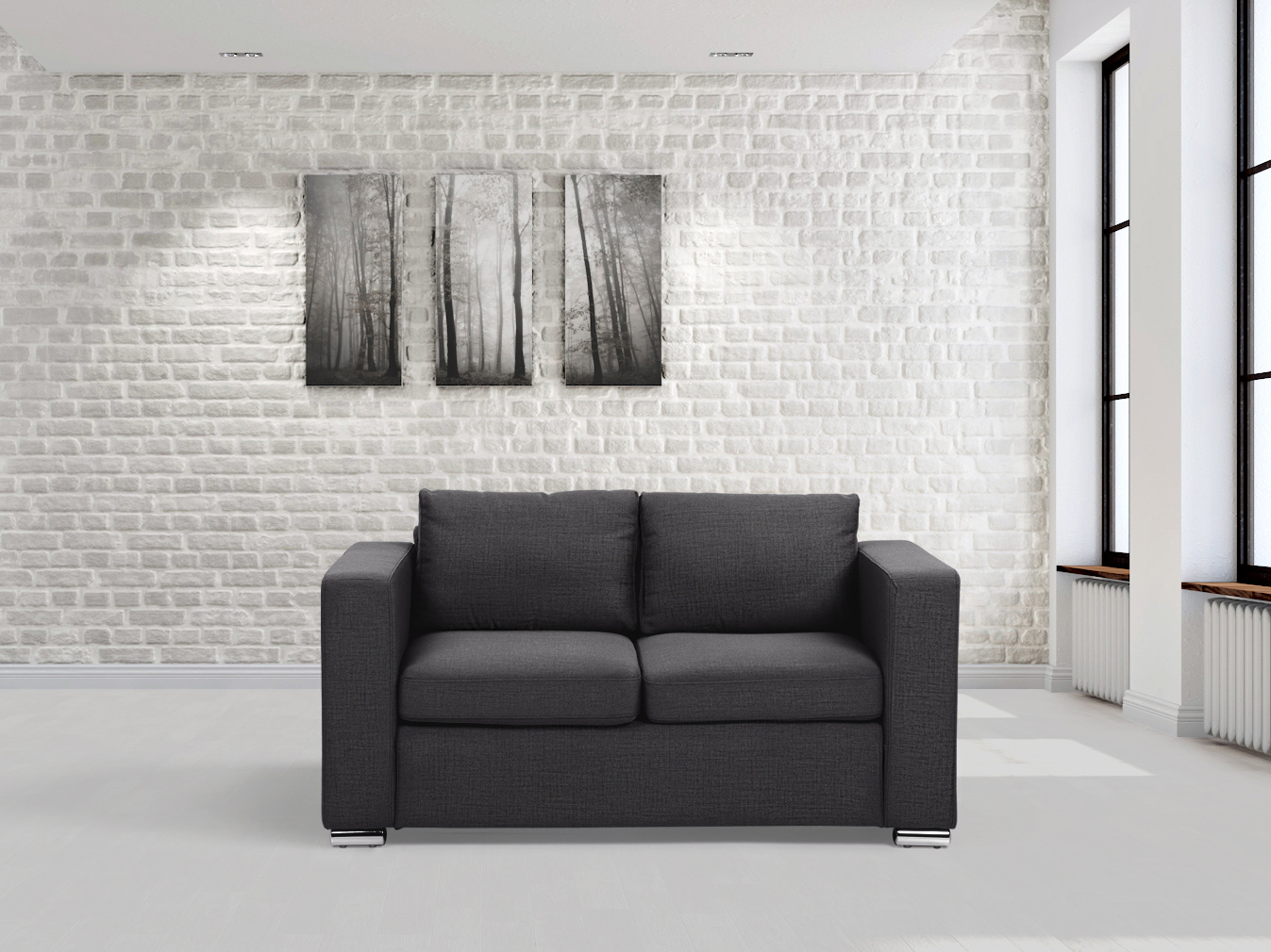 Image Is Loading Fabric-sofa-loveseat-two-seater-living-room-sofa-