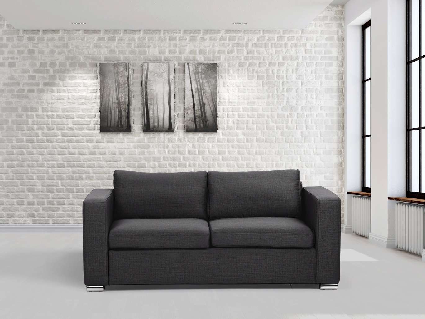Image Is Loading Fabric Sofa Two Seater Living Room 3