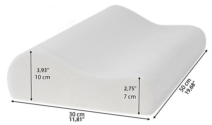 memory foam bed pillow cooling gel orthopedic cushion. Black Bedroom Furniture Sets. Home Design Ideas