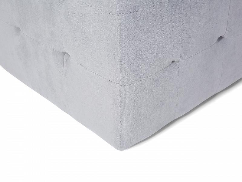 hocker grau box sitzbank pouf truhe ottoman wohnzimmer. Black Bedroom Furniture Sets. Home Design Ideas