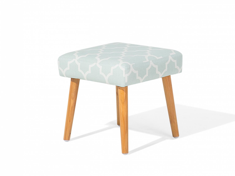hocker pastellblau fu hocker ottoman sitzhocker sitzpouf wohnzimmer baumwolle ebay. Black Bedroom Furniture Sets. Home Design Ideas