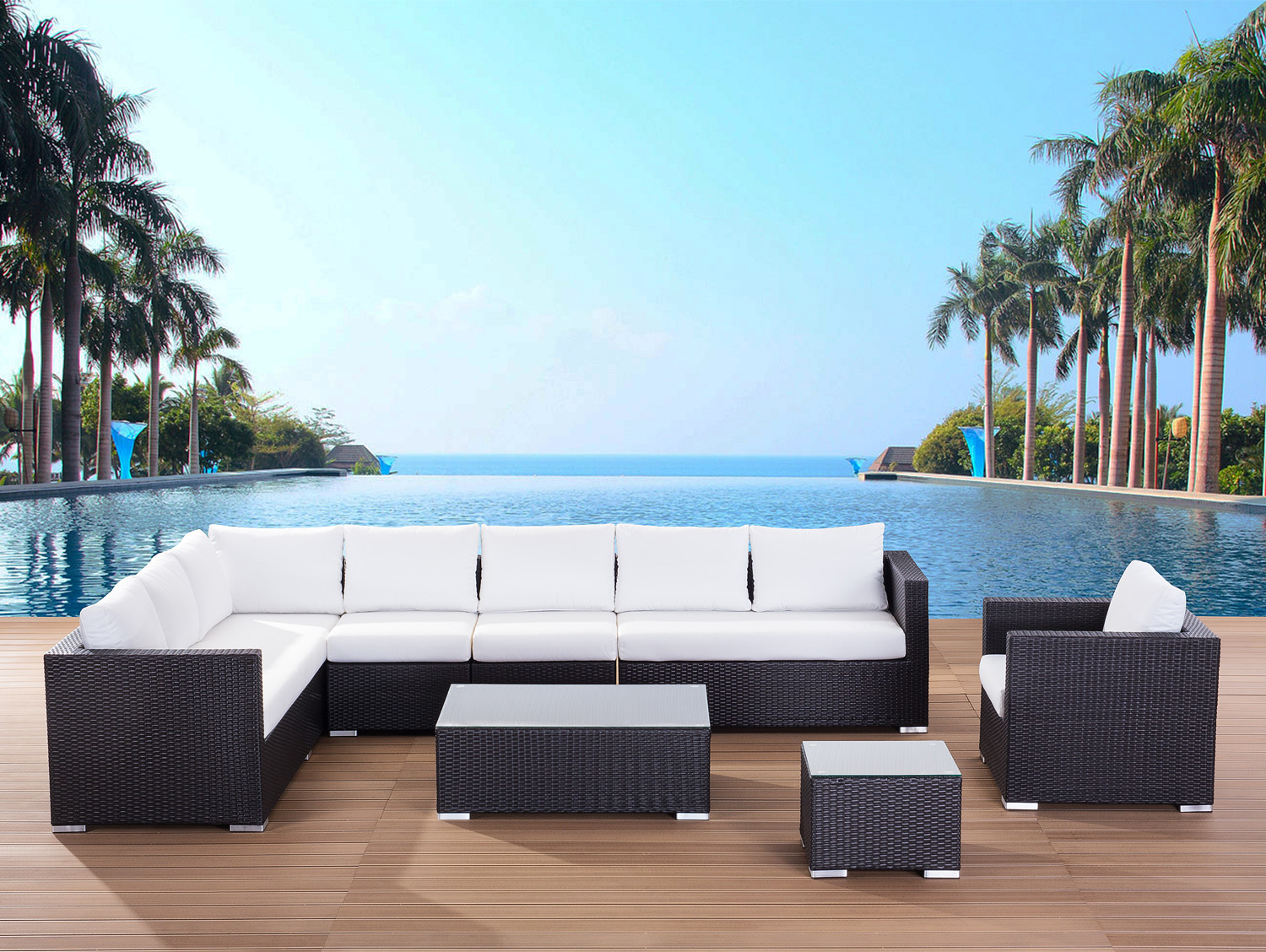 wicker rattan lounge garden furniture resin poly rattan outdoor
