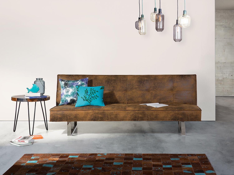 schlafsofa polsterbezug braun 200 cm derby ebay. Black Bedroom Furniture Sets. Home Design Ideas