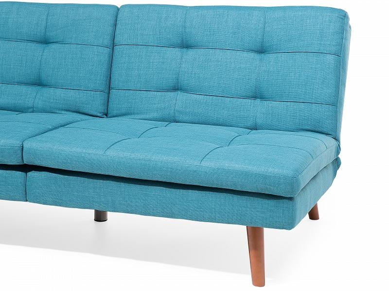 sofa blau schlafsofa couch schlafcouch bettsofa bett wohnzimmer polyester ebay. Black Bedroom Furniture Sets. Home Design Ideas
