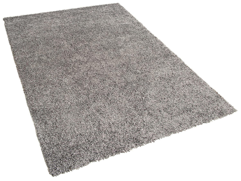teppich silbergrau shaggy vorlage rechteckig hochflor polyester 80x150 l ufer ebay. Black Bedroom Furniture Sets. Home Design Ideas