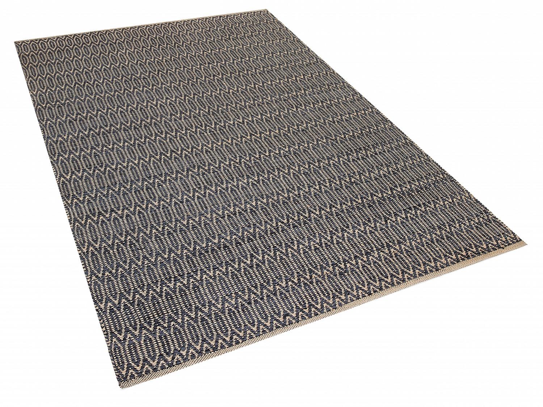 tapis design marron beige tapis rectangulaire en coton et. Black Bedroom Furniture Sets. Home Design Ideas